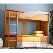 Двухъярусная детская кровать Соло 4 - Бук/Дуб кремона