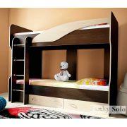 Кровать для двоих детей Фанки Соло 4 - Венге/Дуб кремона