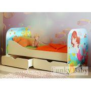Кровать для девочки КР-6 + 2 ящика ЯЩ-7 серия Русалочка