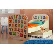 Кровать детская КР-6 без ящика Алфавит