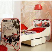 Кровать с одним выдвижным ящиком КР-6 для детей Формула 1