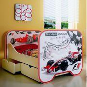Кровать КР-6 с двумя выдвижными ящиками Формула 1