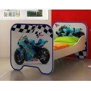 Кровать КР-6 для детей Мотогонки