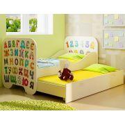 Детская кровать КР-6 с размером 190х80 см Алфавит
