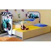 Кровать КР-6 со спальным местом 190х80 см Мотогонки