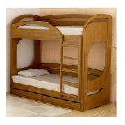 Двухъярусная кровать Фанки Пайн 200х90 с выкатными ящиками