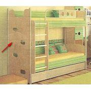 Детская мебель Полосатый рейс - кровать 2х-ярусная со скалодромом