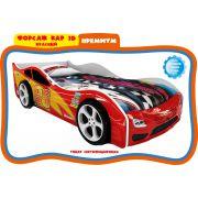 Форсаж Кар 3D Премиум Красный + 2 объемных колеса