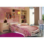 Кровать-машина Принцесса + детская мебель Фанки Авто