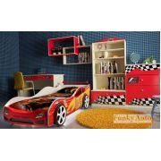 Детская кровать-машина Форсаж Кар 3D + мебель Фанки Авто