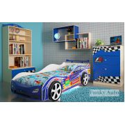 Комплект мебели Фанки Авто + кровать-машина Турбо Кар Синий