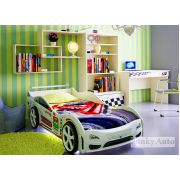 Детская кровать Турбо Кар + мебель Фанки Авто