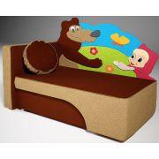 Детский мягкий диванчик Маша и медведь