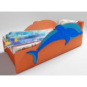 Диванчик Дельфин с одной декорированной боковиной