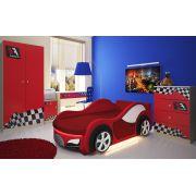 Кровать в виде машины Велюр + мебель Фанки Авто