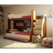 Двухъярусная кровать Фанки Кидз-21 (с 3-им сп. местом)