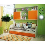 Детская мебель Фанки Кидз: кровать 13/7СВ + мост надкроватный 13/62СВ
