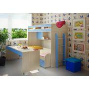 Мебель Фанки Кидз серии СВ: кровать-чердак 22 + нижняя кровать 13/53 + стол выкатной 13/58