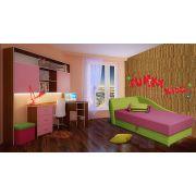 Готовая комната для девочек: кушетка Свит + стол 13/63 СВ + мост 13/62СВ + пуф ФП1