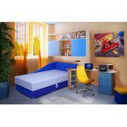 Готовая комната для мальчиков: кушетка Свит + стол 13/63СВ + мост 13/62СВ + пуф ФП1