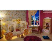 Кровать-карета Золушка + модули Фанки Бэби Фея: стол Ст-4 + стеллаж С-2 + тумба Т-5