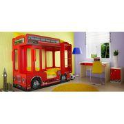Кровать-автобус Лондон + Фанки Авто: стол ФА-СТ4 и тумба ФА-Т5