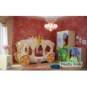Детская кровать-карета Золушка + мебель Пони