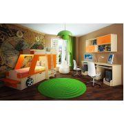Кровать-машина Джип с подсветкой + стол для двоих детей 13/51СВ + мост 13/55СВ