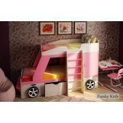 Двухъярусная кровать-машина Джип + парта Фанки Деск-1