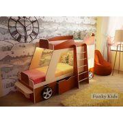 Двухъярусная кровать-машина Джип для двоих детей