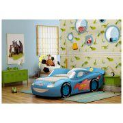 Кровать-машина из пластика Молния Люкс для детей