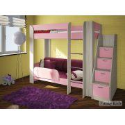 Двухъярусная кровать Фанки Кидз 20 + подушки (5 шт.) и наматрасниик