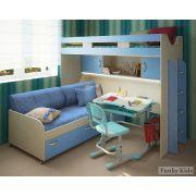 Кровать для детей Фанки Кидз 22 + нижняя кровать 13/53 + комплект подушек и наматрасник