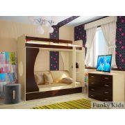 Двухъярусная кровать Фанки Кидз 2 + подушка (5 шт.) + наматрасник