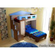 Кровать чердак Фанки Хоум 11004 + кровать ФТ-02