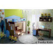 Двухэтажная кровать Фанки Хоум арт-11003 + ФТ-08 тумба + ФТ-09 письменный стол + ФТ-14 полка Фанки Тайм