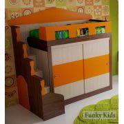 Кровать-чердак Фанки Хоум со шкафом-купе артикул 11005