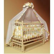 Кровать Фанки Литл для новорожденных с маятником. Готовый комплект.