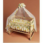Кровать для новорожденных Фанки Литл. Качалка и колеса в комплекте.