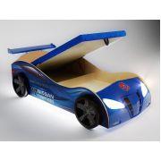 Кровать в форме машины Фанки Ниссан с подъемным механизмом, арт. 20003 + колеса + подсветка + спойлер