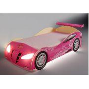 Кровать для девочек в форме машины Ниссан Фанки, арт. 20003. АКЦИЯ на Розовый и Золотой цвета!