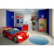 Кровать в виде машины Ниссан, арт. 20003 /спойлер/ и Фанки Авто: стеллаж, полка, комод
