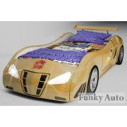 Кровать машина Фанки-Enzo Золотая.