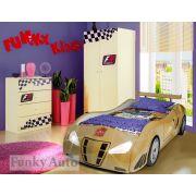 Детская кровать машина Фанки Enzo с мебелью Фанки Авто