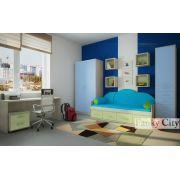 Детская комната 4 с рабочей зоной серия Фанки Сити