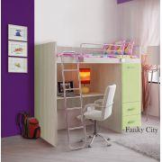 Детская кровать-чердак с рабочей зоной Фанки Сити.
