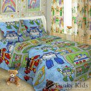 Комплект детского постельного белья Робокар Полли