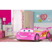 Кровать машина Молния Маквин арт. 20005 + мебель Фанки Беби для девочки