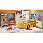 Детская комната Фанки Авто + пластиковая кровать-машина Молния Маквин, арт. 20008