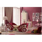 Диван для девочки Карета арт. 30002+мебель из серии Фанки Беби Китти